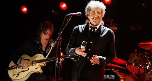 Bob Dylan during the 17th Annual Critics' Choice Movie Awards  at the Hollywood Palladium in Los Angeles, California in January 2012. Photograph: Christopher Polk/Getty
