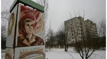 Drinking radioactive poison at  the Chernobyl hotel