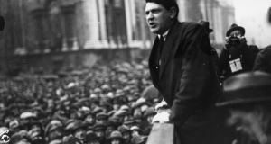 Untarnished hero: Michael Collins around 1921. Photograph: INM/Getty