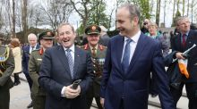 Enda Kenny and Michael Martin: A minority Government utterly dependant for its survival on the main Opposition party has emerged from the perils of the budget process with its prospects of survival enhanced rather than diminished. Photograph:  Maxpix/Julien Behal