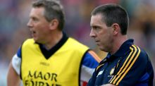 Clare senior hurling's new management team of Donal Moloney and Gerry O'Connor. Photograph: James Crombie/Inpho.