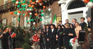 The Church of Scientology opening it National Affairs Office on Dublin's Merrion Square on Saturday. Photograph: Emer Sugrue/The Irish Times