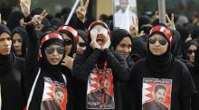 Protesters in Bahrain: the suggestion that the sharing of experience, best practice and skills should not happen until after the human rights issues have gone away doesn't add up. Photograph: Hamad I Mohammed/Reuters