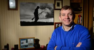 Wesley Bourke at home in Celbridge, Co Kildare. Photograph: Dara Mac Dónaill