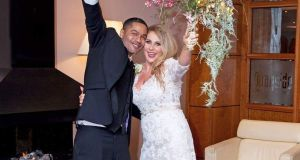 Separated by deportation: Kleber Medeiros and Harriet Bruce,  who married in Ballinasloe  last December