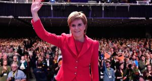 SNP leader Nicola Sturgeon: she retains the overwhelming support of her party, with few dissenting voices heard during the SNP's three-day conference. Photograph:  Jeff J Mitchell/Getty Images