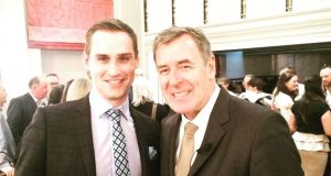 Ray Dowling with former Irish goalkeeper Packie Bonner at a recent LIGN event.