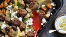 A Greek-inspired dish perfect for long nights and hungry kids