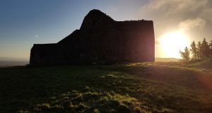 An archaeological excavation at the Hellfire Club in the Dublin mountains has uncovered what is believed to be an ancient passage tomb. Photograph: Abarta Heritage