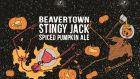 Beavertown's Stingy Jack Spiced Pumpkin Ale: has  clove and cinnamon on the aroma, a gentle sweetness and a slightly dark amber hue