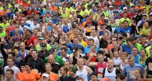 Who is most likely to hit the 'wall' during the Dublin marathon?