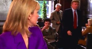 Samantha Jones, played  by Kim Cattrall, looks back at Donald Trump in an episode of Sex and the City.