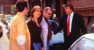 Donald Trump making a guest appearance in The Drew Carey Show.