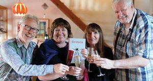 Vincent Woods, Mary Ruddy, Eva Bourke and Vincent Murphy celebrate the publication of Fermata