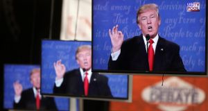 Screen time: the presidential debates have exposed the limits of Trump's reality-TV shtick. Photograph: Reuters