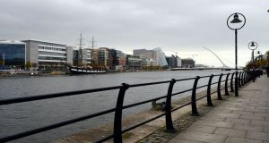 The estimated 2,000 residents at the Spencer Dock apartment complex in Dublin have been told that short-term lets on Airbnb are contrary to their residential and tenancy agreements.   Photograph: Dara Mac Donaill / The Irish Times
