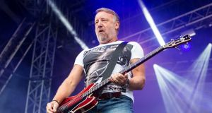 Peter Hook: The New Order bassist was challenged by Tom Dunne about including highly personal details about his marriage in recent memoirs. Photgraph: Lorne Thomson/Redferns