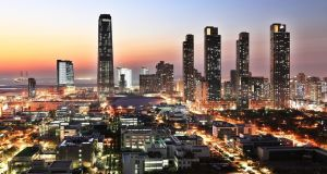 Sensors are ubiquitous in  Songdo, South Korea, a new city being built from scratch: Photograph: copyright  Gale International