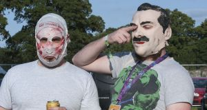 All talk: Limerick hip-hoppers The Rubberbandits are set to cause a scene at Lingo. Photograph: Dave Meehan