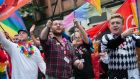 Marchers take part in a Belfast Gay Pride event. File photograph: Getty Images