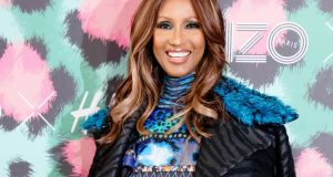 Iman wearing Kenzo x H&M  at Kenzo x H&M fashion show in New York on Wednesday. Photograph: Matteo Prandoni/H&M