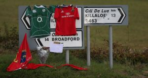 Signs point the way to Killaloe in Co Clare yesterday. Photographh: Niall Carson/PA Wire