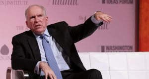 Central Intelligence Agency director John Brennan met with Irish intelligence heads last August, he said.  Photograph: Chip Somodevilla/Getty Images