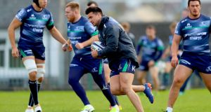 Cian Kelleher will start at fullback in Italy this weekend. Photograph: James Crombie/Inpho