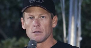 Disgraced American cyclist Lance Armstrong was scheduled to be the final keynote speaker at the day-long the sport and tech conference Friday. Photograph: Cooper Neill/Getty Images