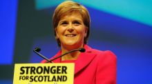 "Scottish First Minister  Nicola Sturgeon suggests Scotland could be accommodated in an EU  half-way house akin to Norway, while the rest of the UK adopts a ""hard"" Brexit. Photograph:  Andy Buchanan/AFP/Getty Images"