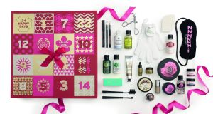 Advent calendar from The Body Shop