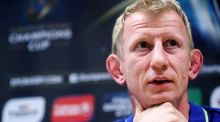 Leinster Rugby Head coach Leo Cullen speaks at a press conference ahead of their Champions Cup clash with Montpellier. Photo: Inpho