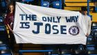 Chelsea fans hold a banner to show their faith to Jose Mourinho prior to the Barclays Premier League match between Chelsea and Liverpool at Stamford Bridge on October 31st, 2015. Photo: Ian Walton/Getty Images