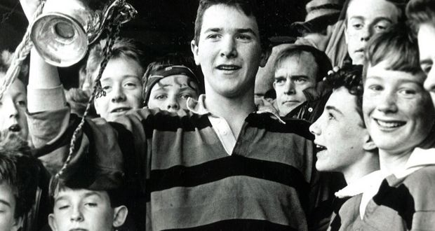 1b3cf8bb611 Captain Anthony Foley holds the trophy aloft after St Munchin's victory in  the Munster Junior School's