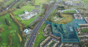 The ready-to-go site in Palmerstown, Dublin 20, forms part of the St Edmunds development and is within easy reach of the M50 and M4.