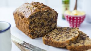 This recipe makes a really moist fruit loaf, which is packed with flavour from mixed spice and dried fruit