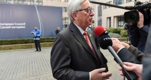 European Commission president Jean-Claude Juncker: due to talk to Swiss president Johann Schneider-Ammann on Friday to try reconcile the country's 2014 referendum on curbing immigration with a 1999 EU-Switzerland agreement on the free movement of people. Photograph: John Thys/AFP/Getty