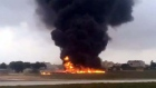 Eyewitness videos aftermath of Malta plane crash that killed five people
