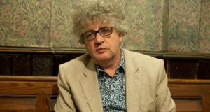 "Paul Muldoon: his ""darker understanding of language knows that we use words, not to include, but to divide and control one another"". Photograph: Tony Pleavin"