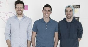 Soundwave founders Brendan O'Driscoll, Craig Watson and Aidan Sliney: Their app tracks what songs people are listening to on their smartphones.