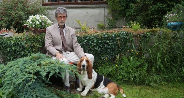 advice for book collectors get into local and family history pj tynan in his garden his dog edgar linton d after a character in