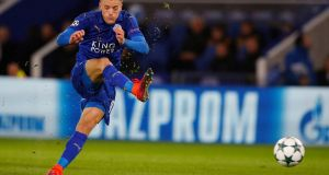 Jamie Vardy: who scored 24 goals in a historic Premier League-winning season for Leicester City. Photograph: Reuters