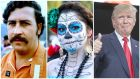 Pablo Escobar, Dia de Los Muertos and Donald Trump (without the octopus).