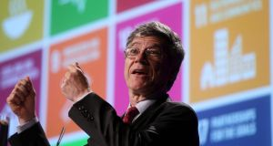 Columbia University economist Jeffrey Sachs: suggested the €13 billion in back taxes which Apple has been ordered to pay Ireland by the European Commisison belonged in the US. Photograph: Jason Clarke