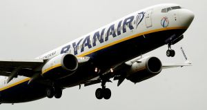 Ryanair,  being named on the non-responders list,  is at odds with the airline's efforts to address emissions. Photograph: Rui Vieira/PA