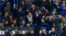 Chelsea manager Antonio Conte in typically animated form at Stamford Bridge last Sunday. Photograph:  Eddie Keogh/Reuters