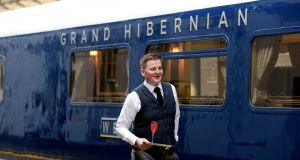 The Belmond Grand Hibernian, Ireland's new luxury train.  This year the deficit at Iarnród Éireann will be about €11 million, according to a rail review. Photograph: Cyril Byrne