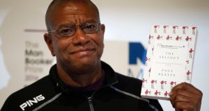 Man Booker prize 2016 winner  Paul Beatty with his book The Sellout. Photograph: Alastair Grant/AP