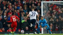 Daniel Sturridge scored twice as Liverpool beat Spurs at Anfield. Photograph: Reuters
