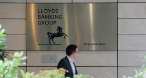 The Lloyds Banking Group head offices in London. Photograph: Nick Ansell/PA Wire